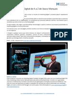 Press ReleasPress Release livro Markting Digital de A a Z de Vasco Marquese Livro Marketing Digital de a a z v3