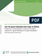 Uso de Aguas Residuales Para Riego en Bolivia Banco Mundial