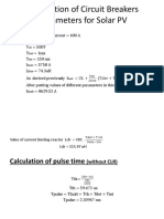 Calculation of Circuit Breakers Parameters for Solar PV