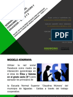 ACTIVIDAD EVALUATIVA EJE 3  - Uso de las redes sociales como estrategias didácticas a través del modelo Atarraya