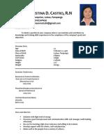 Resume & PRC License