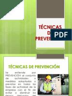 técnicas de prevención.