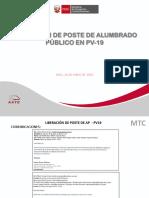 3. Retiro Interferencias Alumbrado Publico Pv19