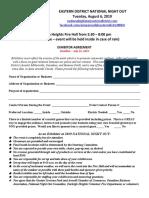 exhibitor agreement 2019