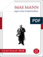 Thomas Mann - Betrachtungen Eines Unpolitischen (1974, Fischer Verlag)