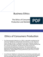 Ethics of Consumer Production