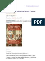 Filosofia y teorías políticas entre la crítica y la utopía