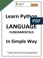 Learn Python Language Fundamentals in Simple Way bu uday kumar sah(djuday)