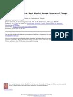 Analisis de Razones Economicas y Comportamiento Financiero
