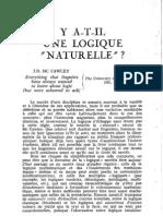 1981 - Engel - Y a-t-il Une Logique Naturelle