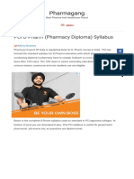 PCI D Pharm (Pharmacy Diploma) Syllabus - Pharmagang