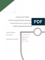 Programa de Calidad Trabajo Diplomado