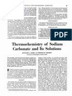 Sodium Carbonate Therochemistry