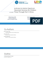 Increasing Access to Autism Spectrum Disorder Assessment Services for Children Under Three Through Part C Clinics