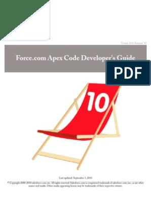 Sales Force Apex Language Reference | Salesforce Com | Class