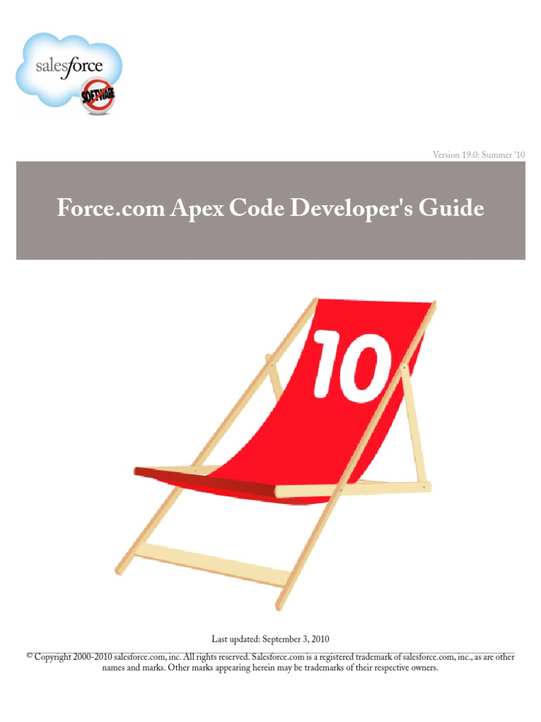 Sales Force Apex Language Reference | Salesforce Com | Class