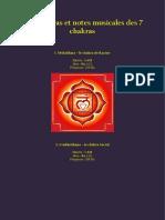 Bija Mantras Et Notes Musicales Des 7 Chakras