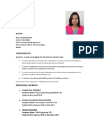 Resume of Saima Salsabil Eshita