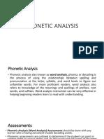 Phonetic Analysis