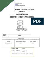 Prueba Plan Lector Octubre Kinder 2018