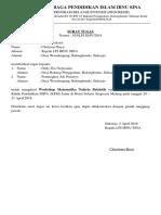 Surat Pemberitahuan Prog. Bimbel Baru