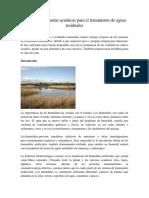 El Uso de Las Plantas Acuáticas Para El Tratamiento de Aguas Residuales (1)