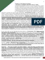 PREDICA L. (17Febrero 2019) NUESTRO PADRE CELESTIAL COMIENZA SIEMPRE POR EL FINAL.docx