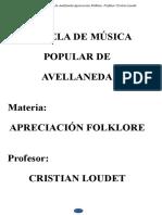 Apreciación del Folklore - 1-   Cuadernillo Introducción