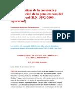 Características de La Coautoría y Determinación de La Pena en Caso Del Concurso Real