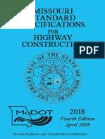MoDOT Standard Specifications 2018