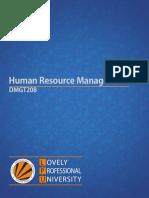 Dmgt208 Human Resource Management