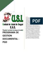 PGD PROGRAMA DE GESTION DOCUMENTAL