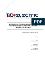 Estudio de Coordinacion de Protecciones Minera Austria Duvaz