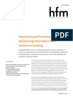 Improving Performance and Enhancing Innovation With Venture Investing Perspectives From Leading Health Systems Full Report