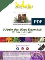 Livro O Poder Dos Oleos Essenciais - Aromaterapia Oficial