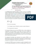 Electronica de Potencia Práctica Modulación Por Ancho de Pulso PWM