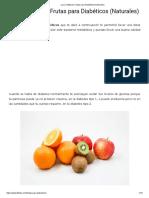 Las 21 Mejores Frutas Para Diabéticos (Naturales)