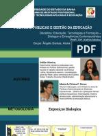 Discussão sobre politicas públicas de gestão da educação brasileira