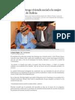 Gobierno Entrega Vivienda Social a La Mujer Más Longeva de Bolivia