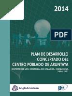 Plan Desarrollo Concertado Aruntaya