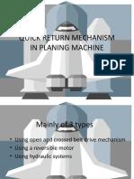 Planer Quick Return Mechanism
