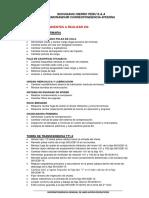 Listado de Trabajos Pendientes en Linea 1