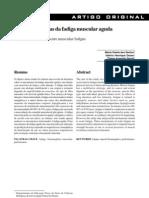 bases metabólicas da fadiga muscular aguda