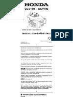Manual Motor Varredeira- Plinio