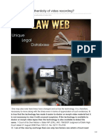 Lawweb.in-how to Prove Authenticity of Video Recording