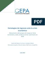 2019.07.22 Estrategias de Ingresos Ante La Crisis Económica. Relevamiento de Ferias CEPA