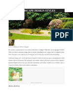 Landscape Design Styles