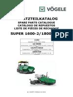 Manual de Partes VOGELE 1800-2