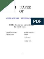 Mani-om Term Paper