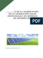 Impacto de la Masificación de la Generación Solar Fotovoltaica